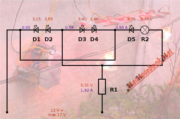 схема светодиодного